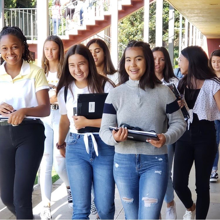 Freshmen at Freshmen Orientation. Picture from Rosary Academy's instagram page.
