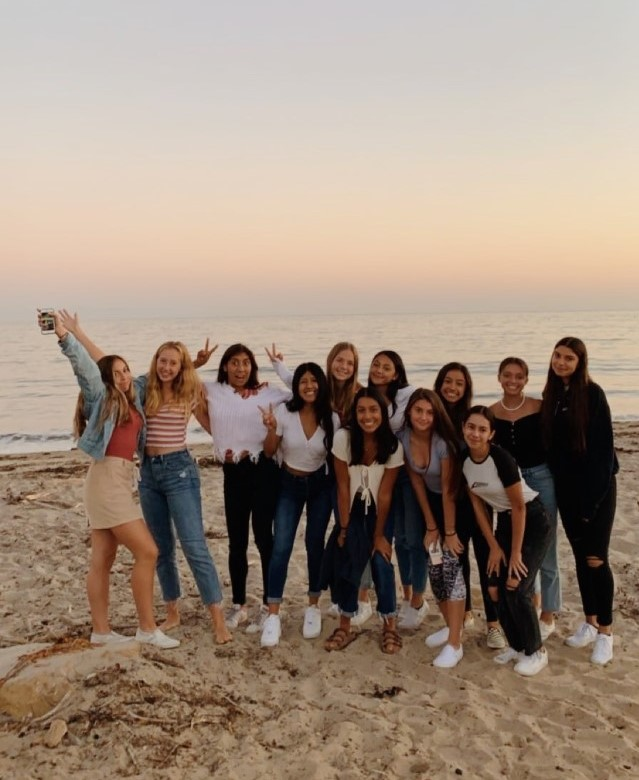 The Rosary XC Team posing for a picture in Santa Barbara. Photo by Grace Fairchild '21.