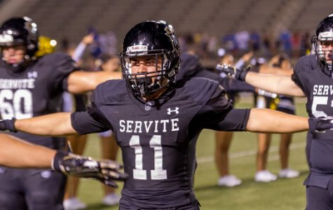 Servite's well-known tradition: The Hut Drill. Photo from Servite's website.