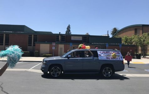 One of the amazing cars honoring seniors. Photo by Isabel Alderete '21.