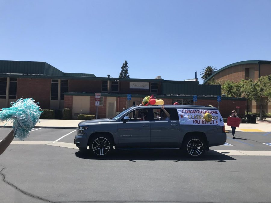 One of the amazing cars honoring seniors. Photo by Isabel Alderete