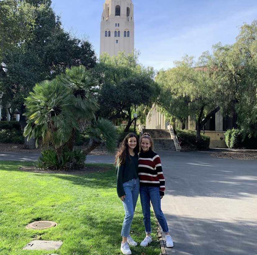 Grace Fairchild '21 visiting a beautiful college campus. Photo provided by Grace Fairchild.