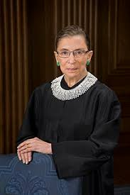 Ruth Bader Ginsberg in her famous lace collar robe. Photo Credit: Flickr