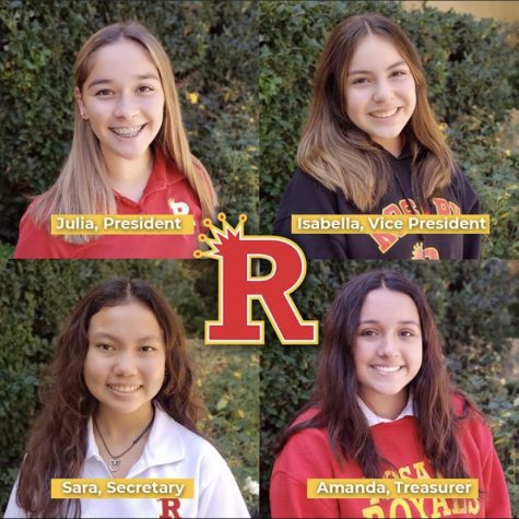 Pictures of the new Freshman Class officers. Photo credit: @rosaryroyals on Instagram