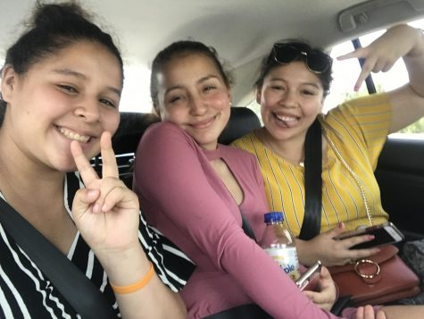 Brooke Medina (left) with her friend and older sister. Photo credit: Brooke Medina