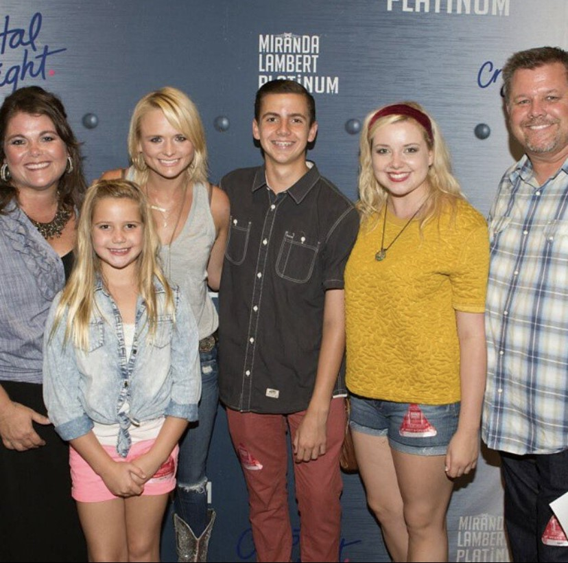 Tom Tice and his family meet country singer, Miranda Lambert, before her concert in New York in 2014. Photo provided by: Tice Family