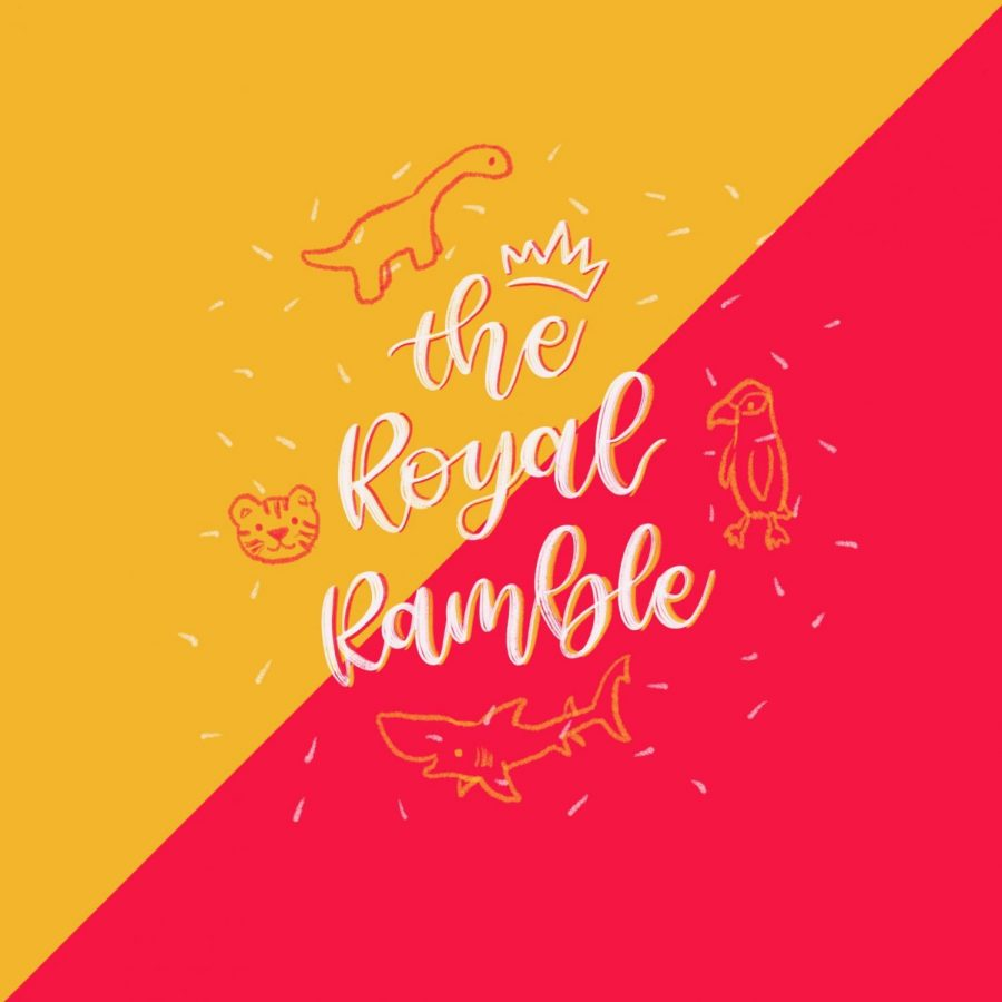 The official cover for The Royal Ramble, which also represents all four of Rosary Academy's class mascots.