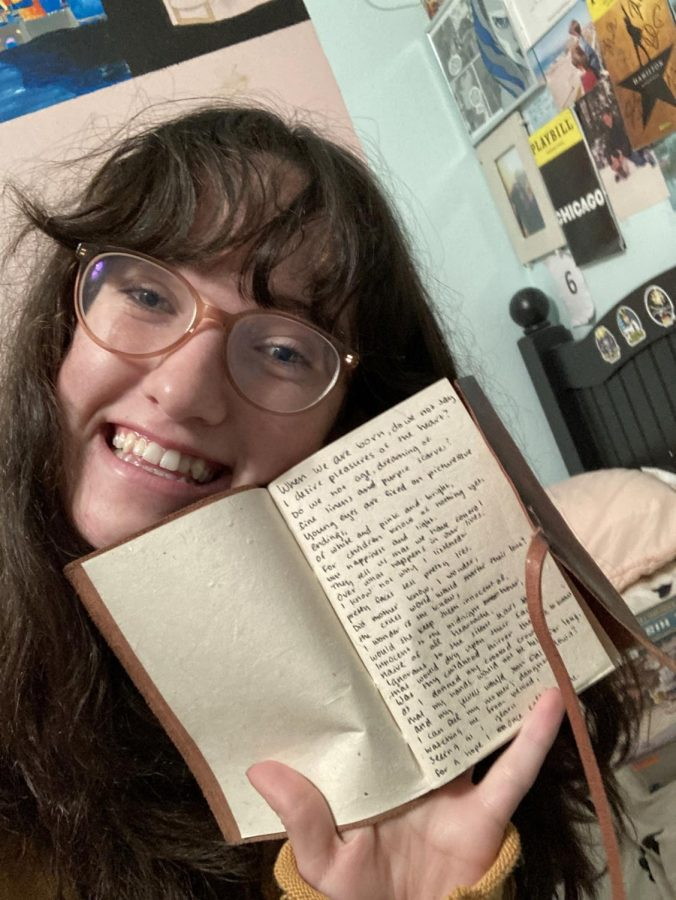 Me, Anna DiCrisi, and my notebook that contains a little too much writing. Photo Credit: Anna DiCrisi