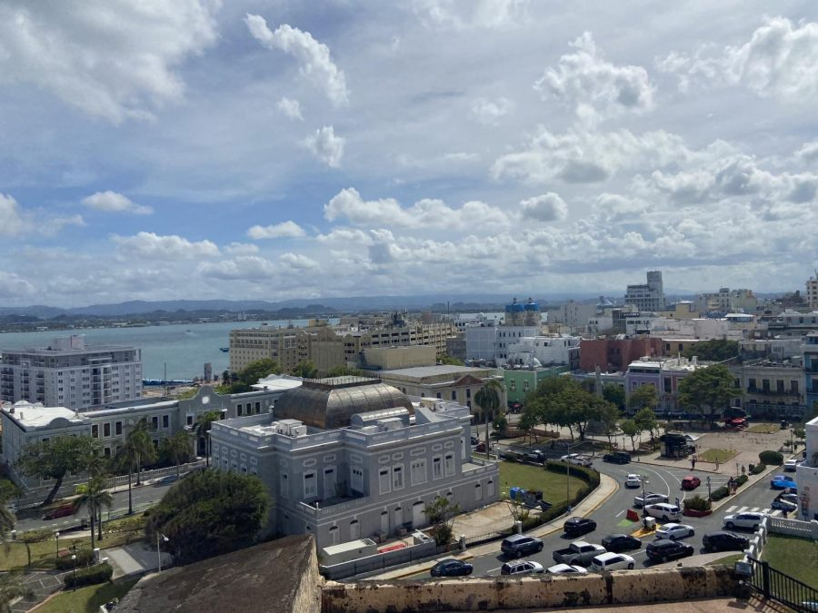A beautiful view of San Juan and the beach.