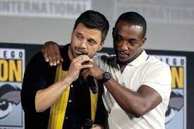 Sebastian Stan and Anthony Mackie portray Captain America