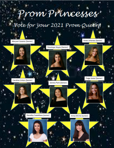 Flyer for the Prom Princesses. Photo provided by Lillian Demman