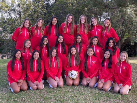 The 2020-2021 Rosary varsity soccer team.