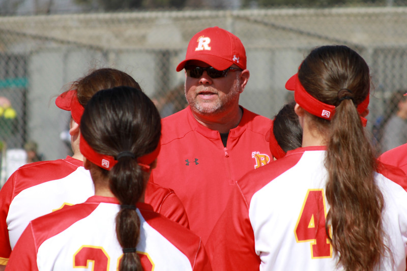 Tom Tice coaching his softball team last year before the pandemic cut their season short. Photo provided by Tom Tice