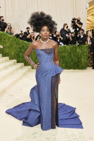 Lupita Nyongo embodying the theme in Versace.