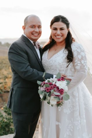 Mr. Guerrero and his wife on their wedding day! Photo provided by: Mr. Guerrero