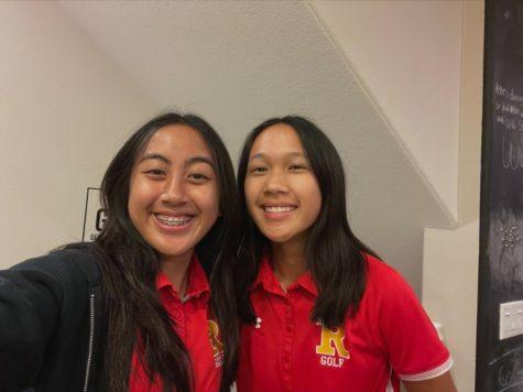 Sophomores Nia Delacruz and Madison Lising smiling!  Photo provided by Nia Delacruz.