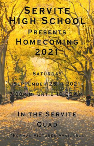 This is the 2021 Homecoming flyer.