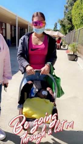 Psychology class students lug around Robo-Babies for a day. Photo Provided by Olivia Eyler 22