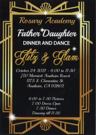 Father Daughter Dance Flyer. Photo provided by Ms. LaBonte